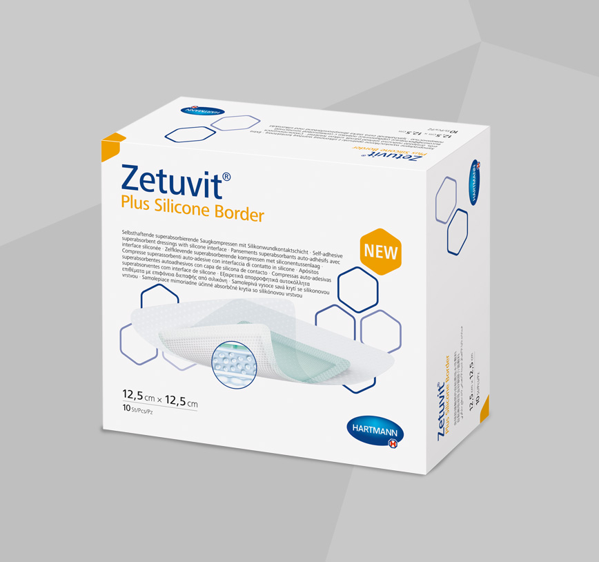 Zetuvit Plus Silicone Border product box